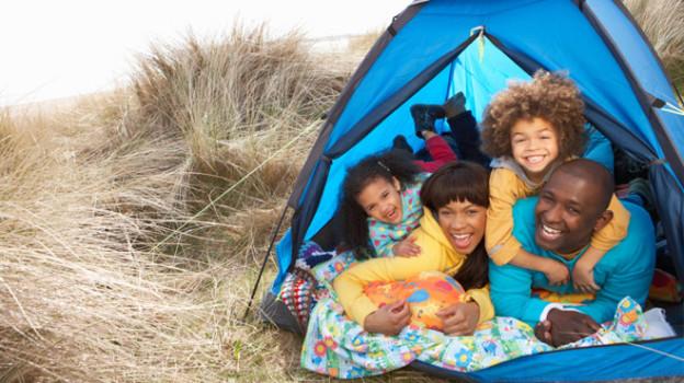 Camping familiar